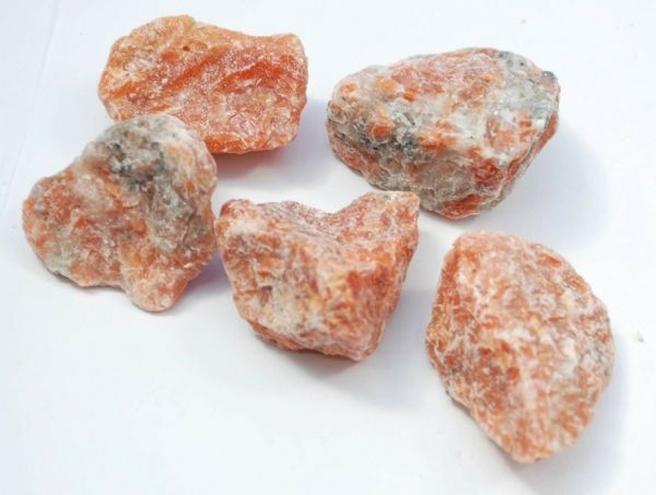 5 LARGE NATURAL ORANGE CALCITE PIECES  184 gms #a